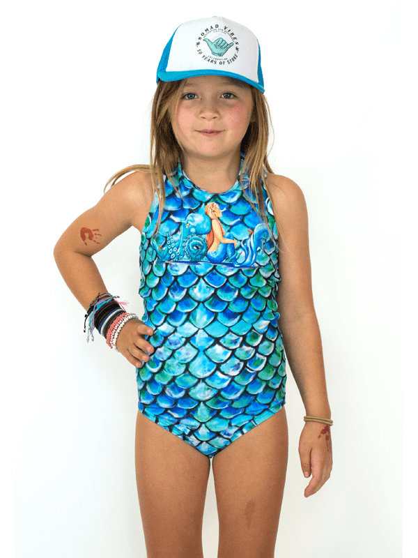 Girls Sport UPF 50+ One Piece in Merscale Equalized