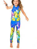 Girls Sport UPF 50+ One Piece in Seahorse