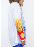 Youth Cheeseburger Shark UPF 50+ Sun Protective Tee