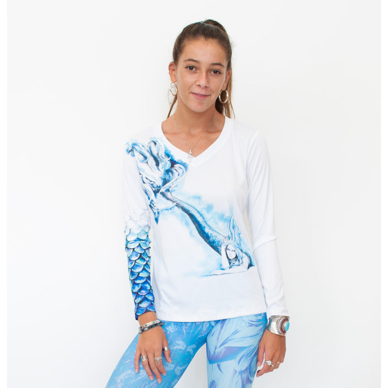 Shell Mermaid UPF 50+ Ladies Sun Protective Tee