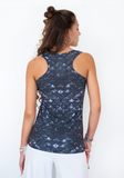 Tank Top in Merscale Black - Full Design