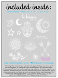 Inked by Dani Temporary Tattoos-Ivory