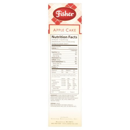 Fisher Northwest Apple Cake, Pack of 3