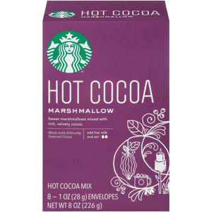 Starbucks Marshmallow Hot Cocoa Mix, 1 Ounce Packet, 8 Count, Pack of 3