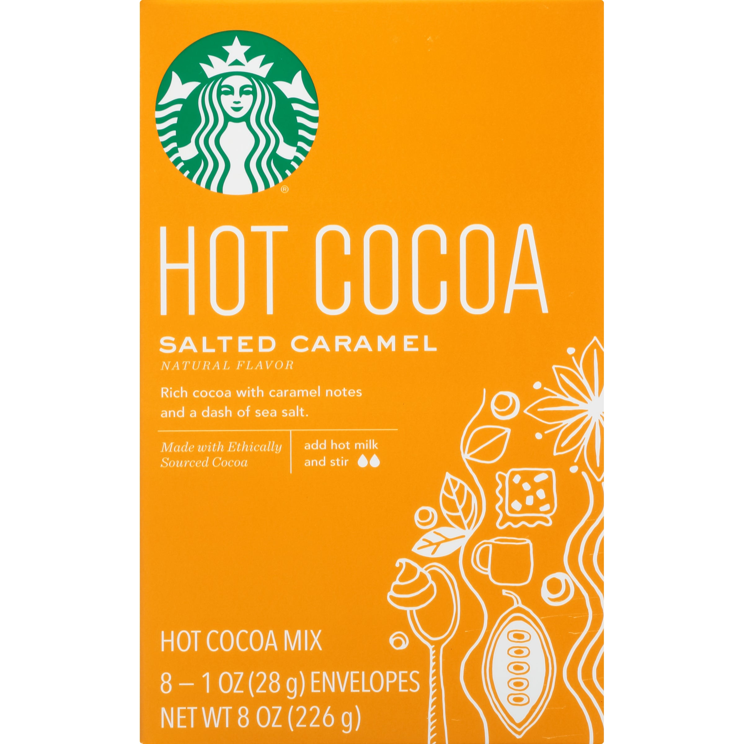Starbucks Salted Caramel Hot Cocoa Mix, 1 Ounce Packet, 8 Count, Pack of 3