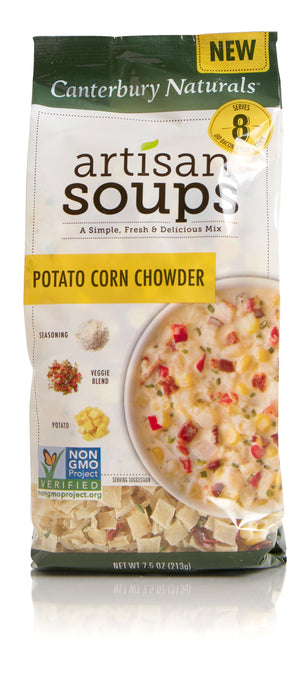 Canterbury Naturals Artisan Soup Mix, Non-GMO Potato Corn Chowder, Pack of 3