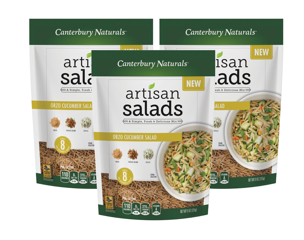 Canterbury Naturals Orzo Cucumber Artisan Salad Mix, Pack of 3