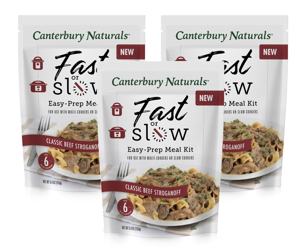 Fast or Slow Easy-Prep Meal Kit Classic Beef Stroganoff Pack of 3