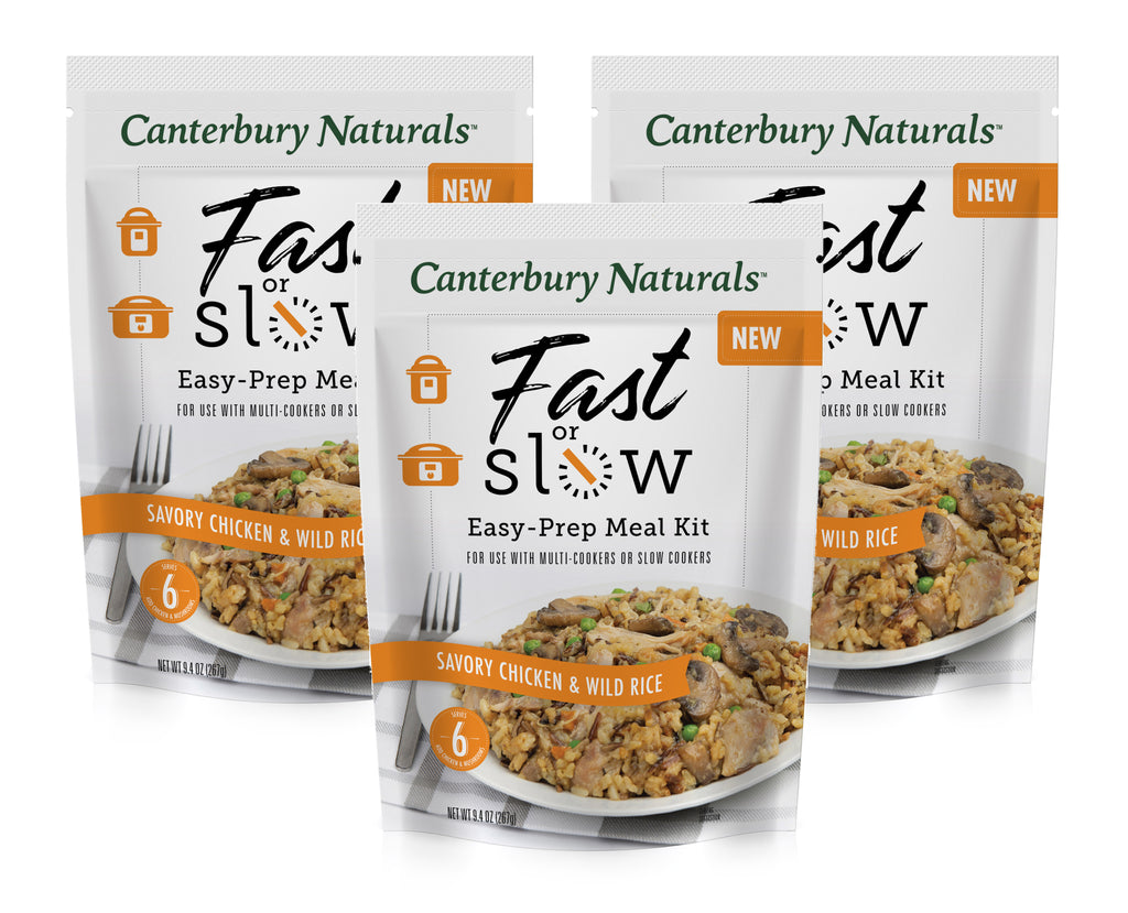 Fast or Slow Savory Chicken & Wild Rice Pack of 3