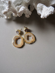 L.N SMOKEY QUARTZ EARRINGS / 39.