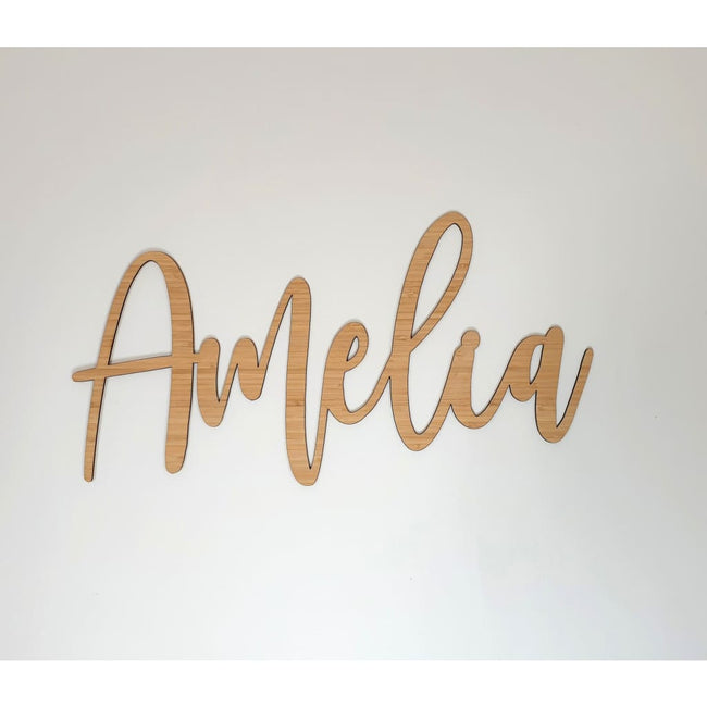 Bamboo name plaque - General Signs