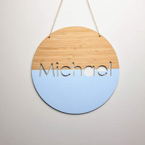 Bamboo Name Plaque Dipped - Laser Cut Name Plaque