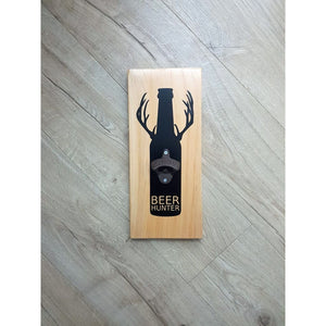 Beer Hunter Bottle Opener Macrocarpa - Natural - Bottle Opener