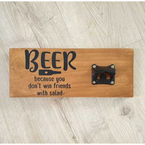 Beer win - Stained - Bottle Opener