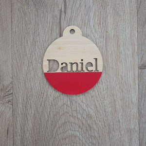 Two Christmas Baubles Personalised - Christmas