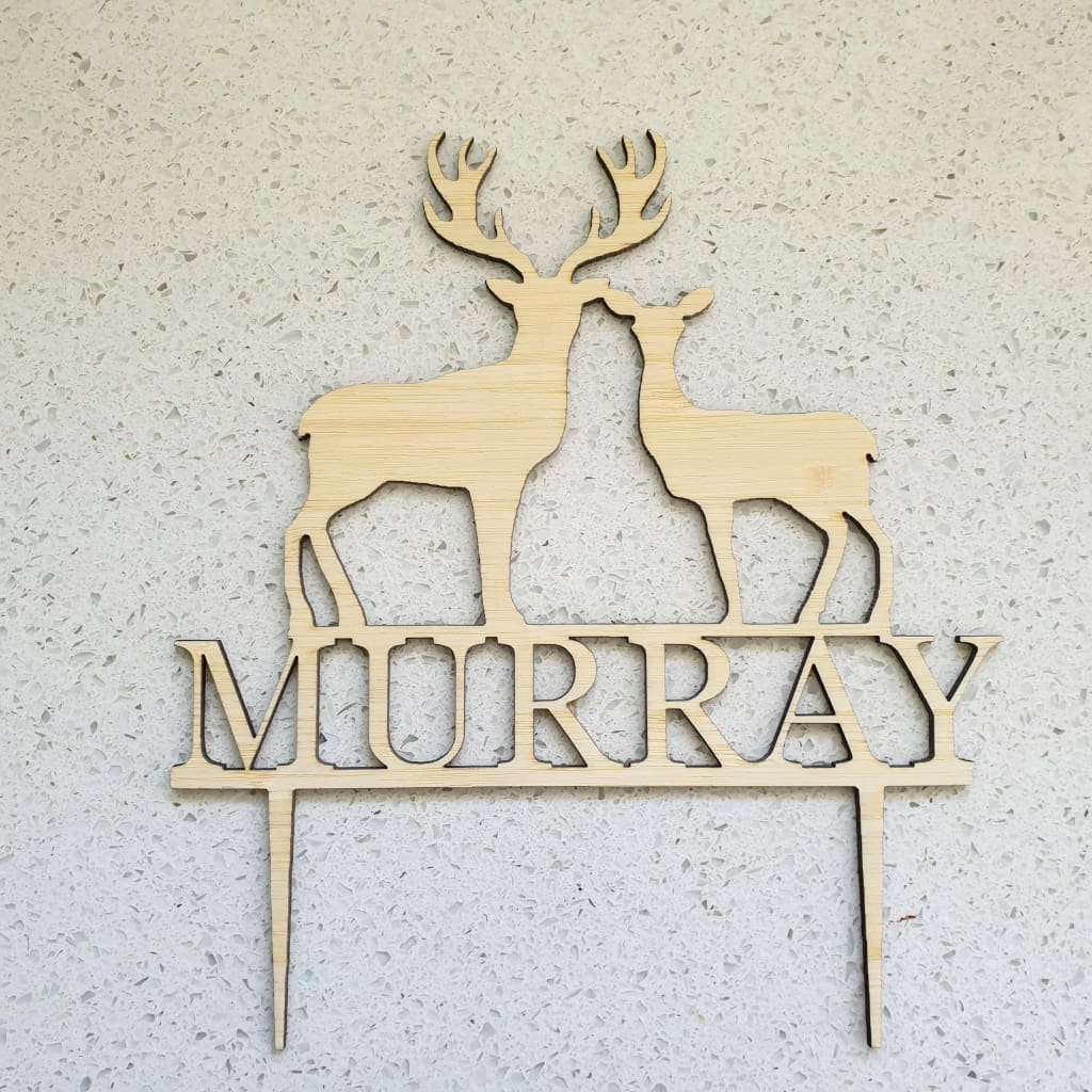 Deer Name Cake Topper - Cake Topper