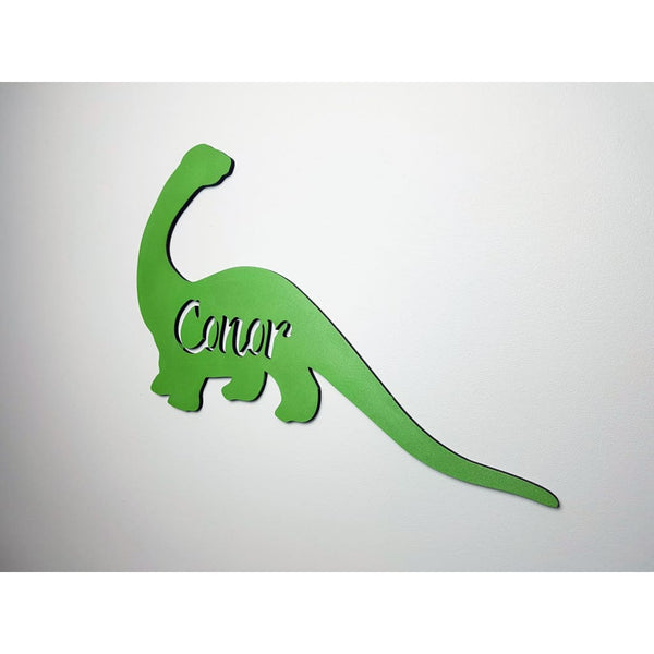 Dinosaur Name Wooden Plaque - Laser Cut Name Plaque