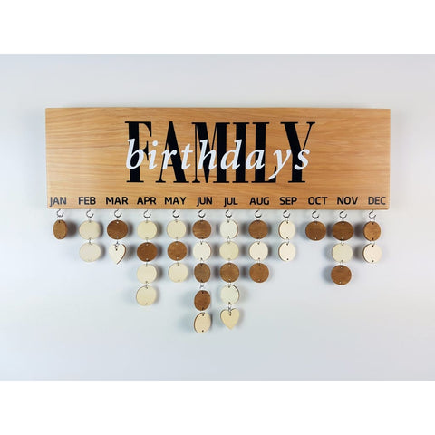 Family Birthday & Celebrations Boards - Family Birthdays - General Signs