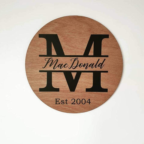 Family Name Circle Plaque - General Signs