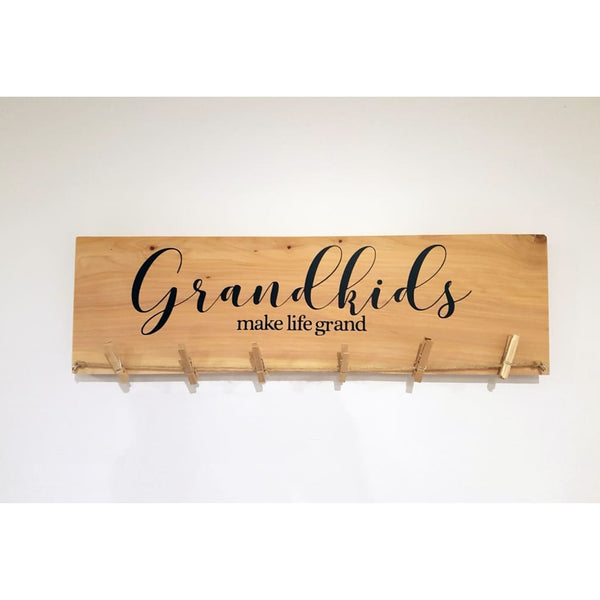 Grandkids Make Life Grand Photo/Art Hanger - General Signs