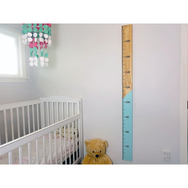 Half n Half Kids Wooden Height Chart - Height Chart
