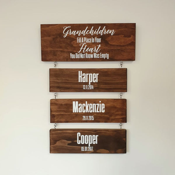 Hanging Grandchildren Sign - General Signs