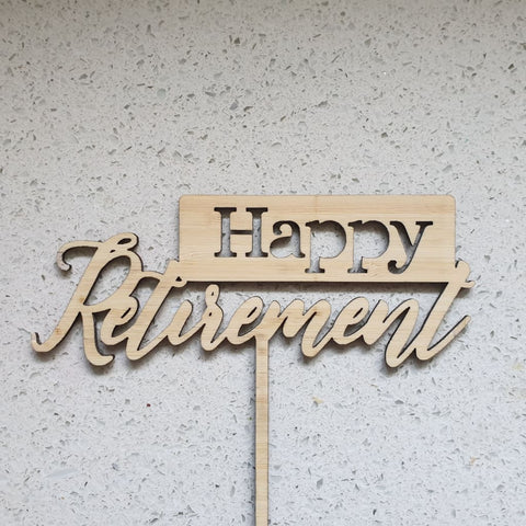 Happy Retirement Cake Topper - Cake Topper
