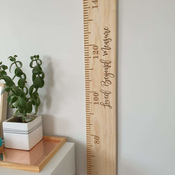 Height Chart Special - Engraved / Loved Beyond Measure