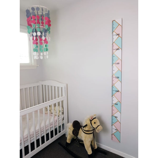Herringbone Wooden Height Chart - Height Chart