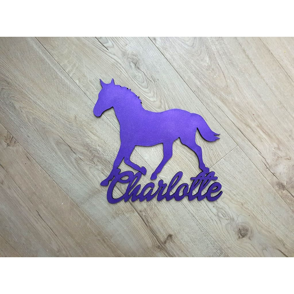 Horse Personalised Name Plaque - Laser Cut Name Plaque