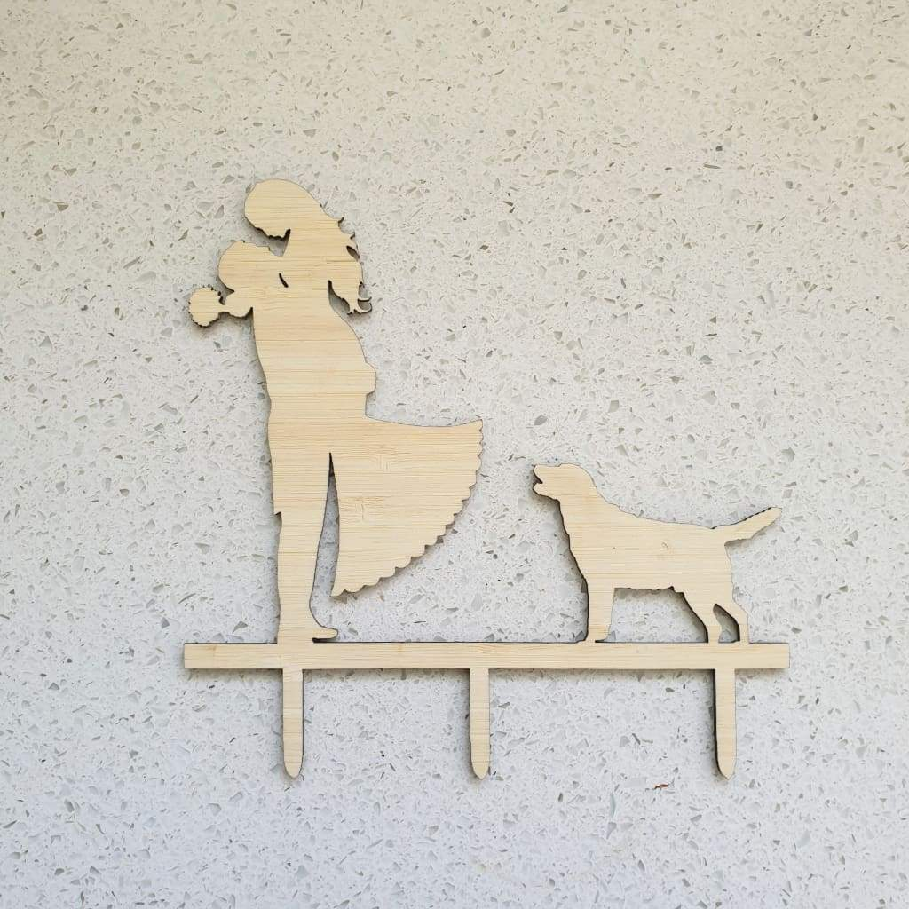 Husband Wife And Dog Cake Topper - Cake Topper