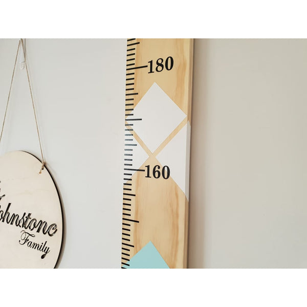 Jewel Childrens Wooden Growth Ruler/Height Chart - Height Chart