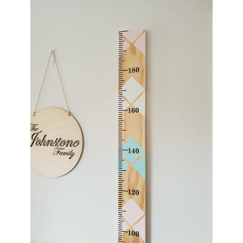 Jewel Childrens Wooden Growth Ruler/Height Chart - Vinyl - Height Chart