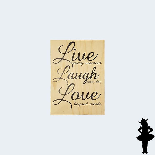 Live Laugh Love Ply Wall Hanging - Plywood Sign