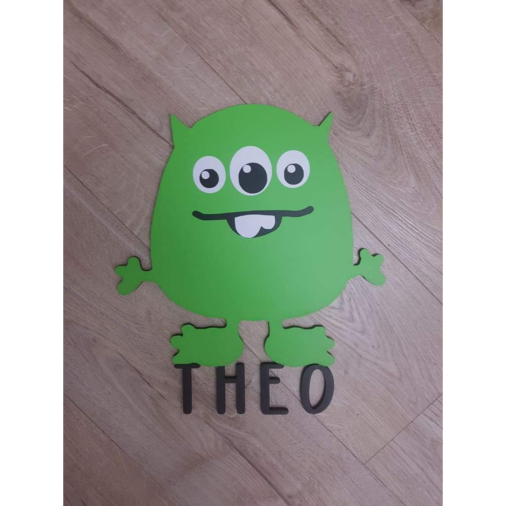 Monster Name Plaque - Laser Cut Name Plaque