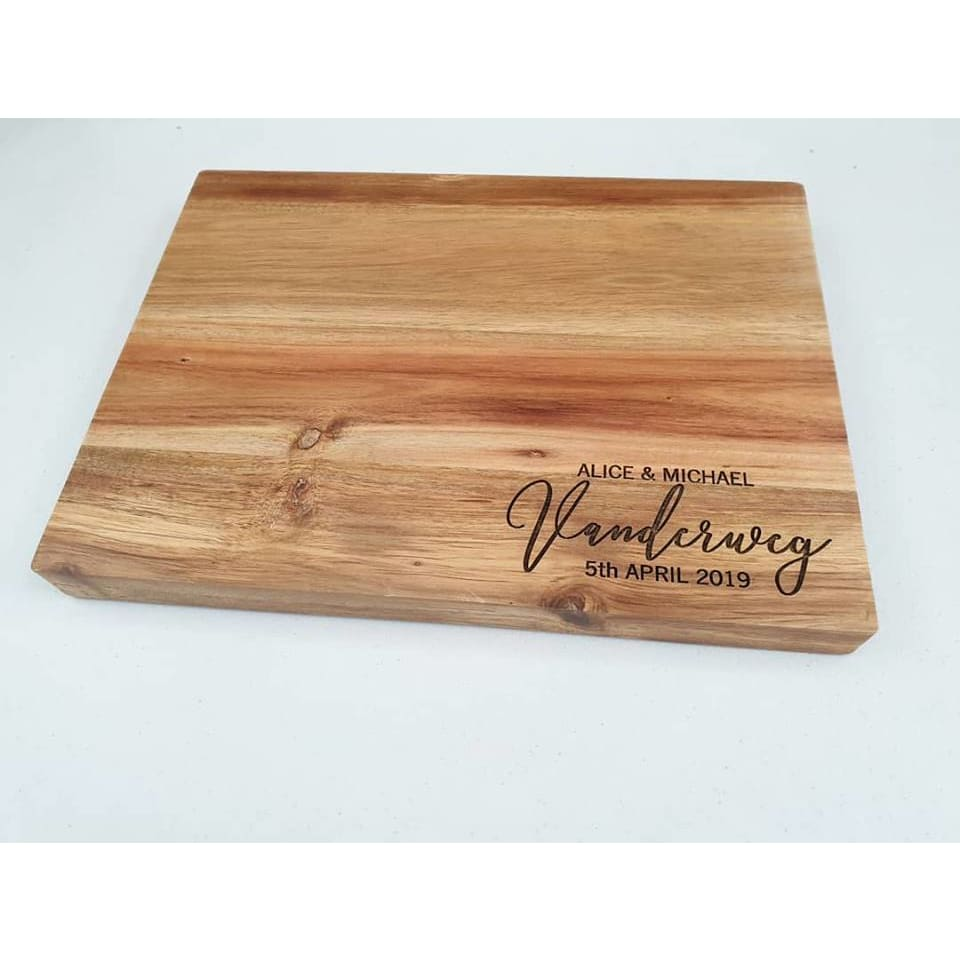 Name and Dates Butchers Block - Cheese Boards