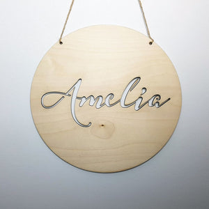 Name in Circle - Laser Cut Name Plaque