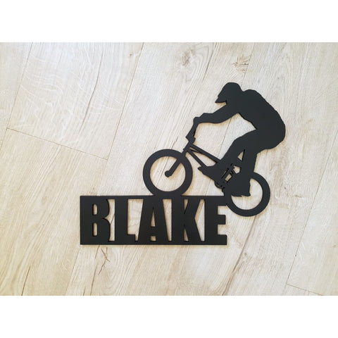 Personalised BMX Name - Laser Cut Name Plaque