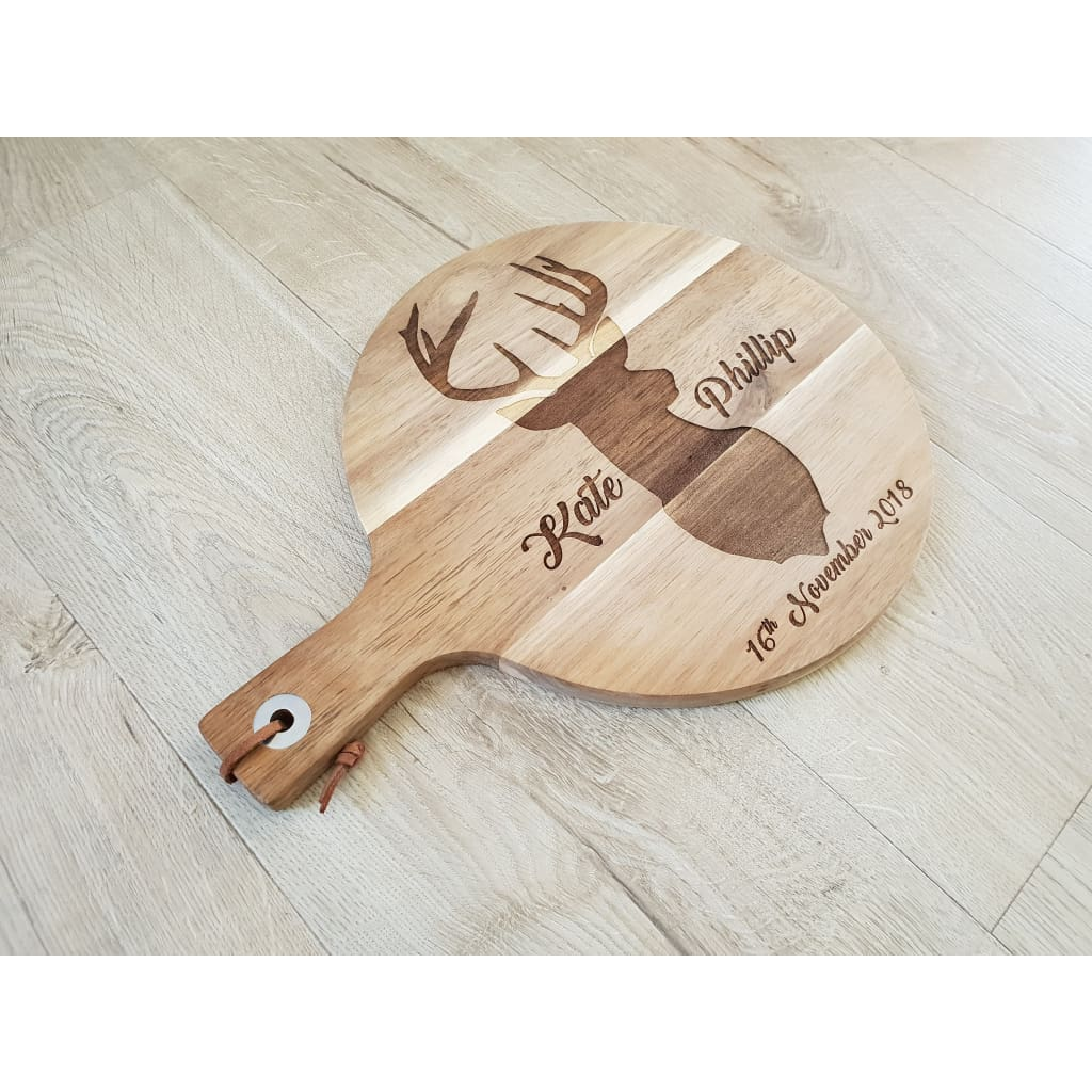 Personalised stag Chopping Board Laser Engraved - Cheese Boards