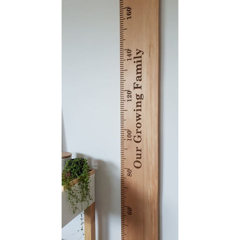 Rimu Wooden Height Chart - 170-210 / Engraved / Sap - Height Chart