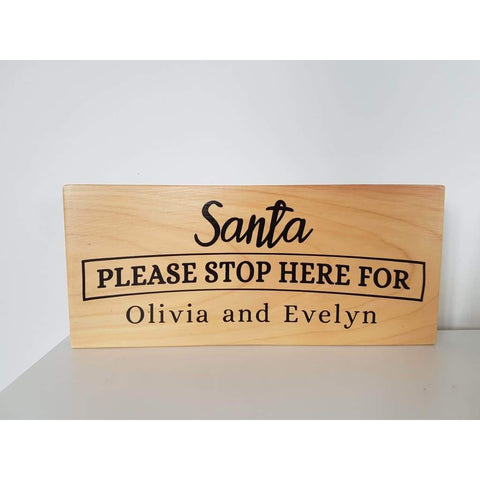 Santa Please Stop Here Personalised Sign - Christmas
