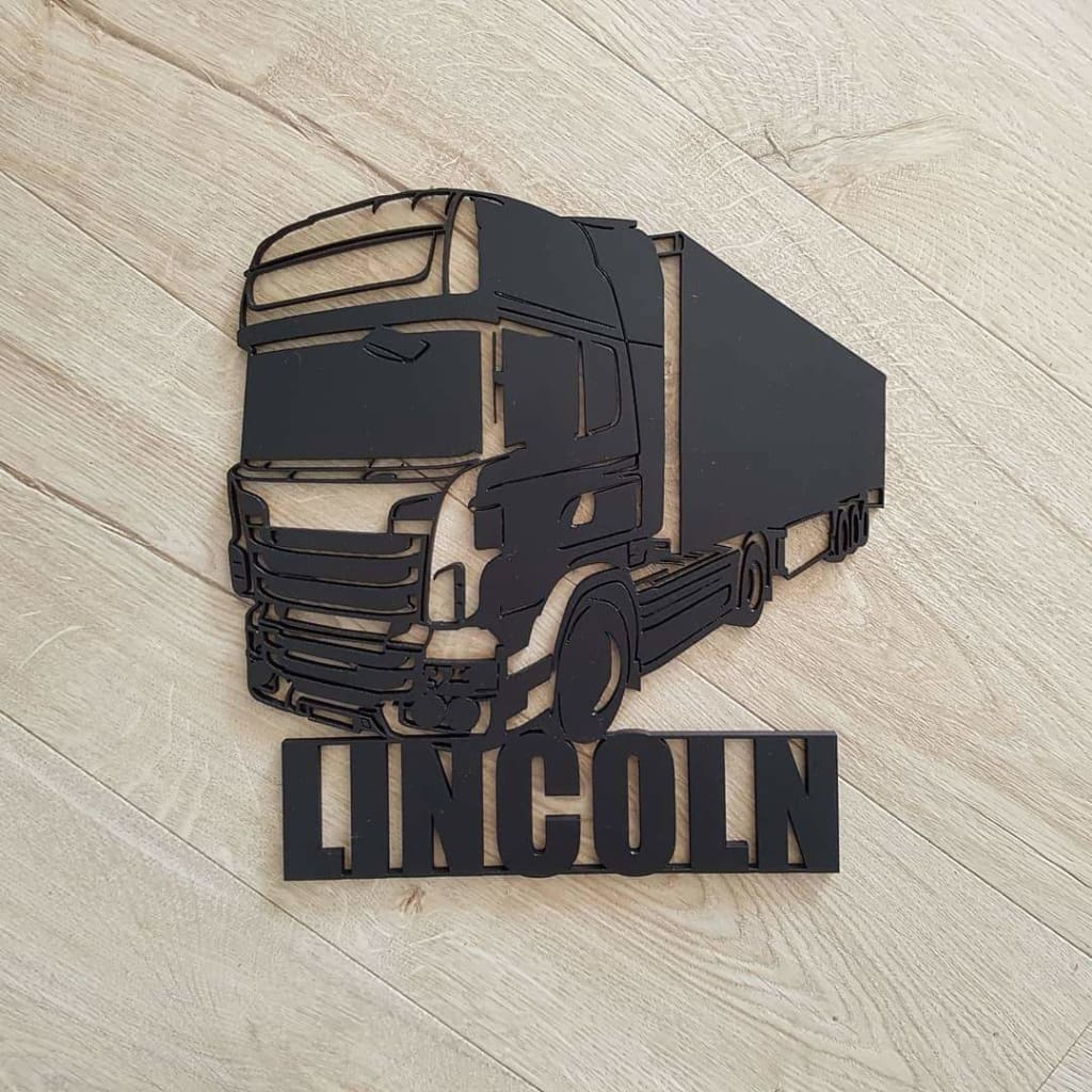 Scania Truck Name Plaque - Laser Cut Name Plaque