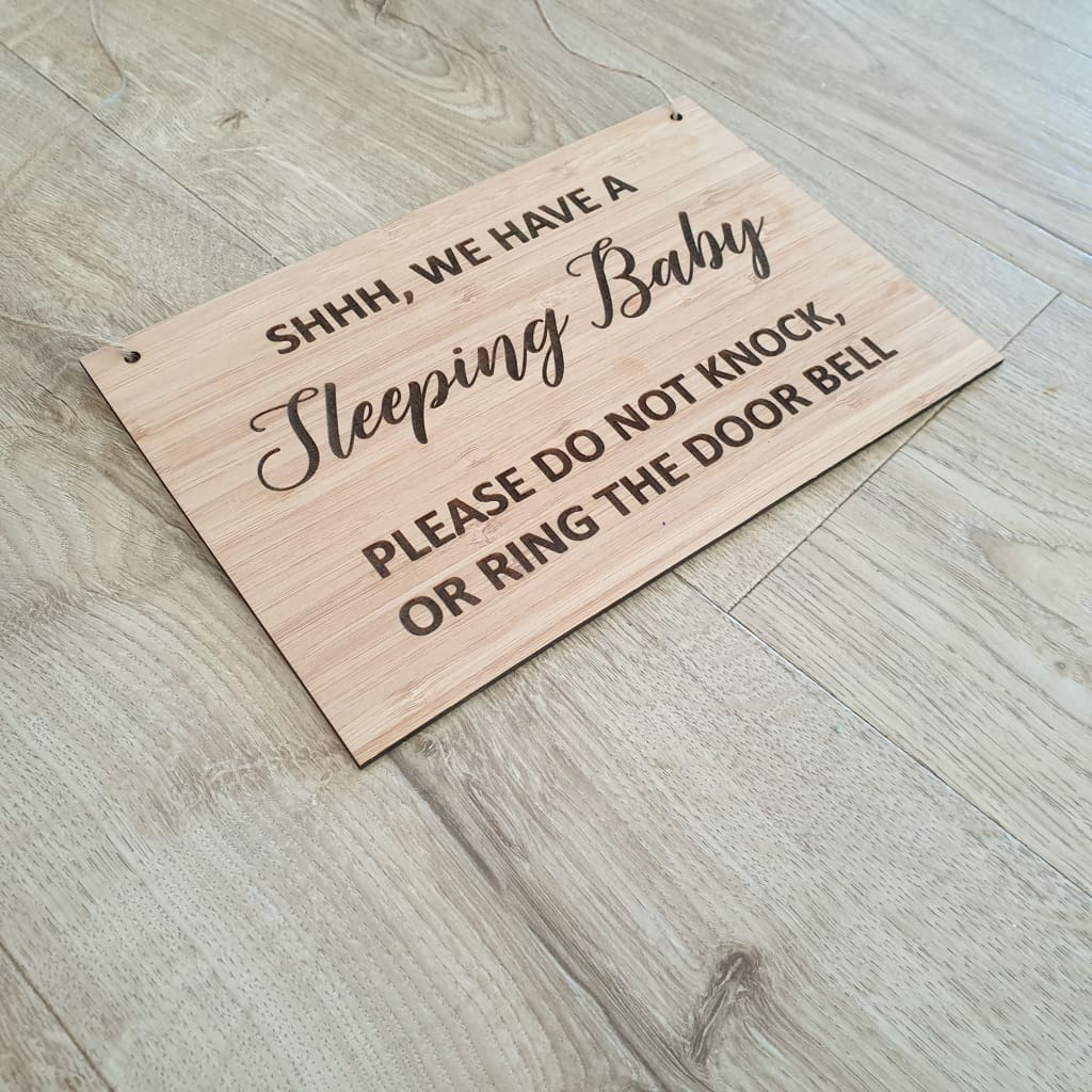 Sleeping Baby Bamboo sign