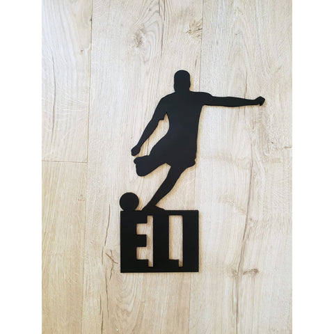 Soccer Player Personalised Name Plaque - Laser Cut Name Plaque