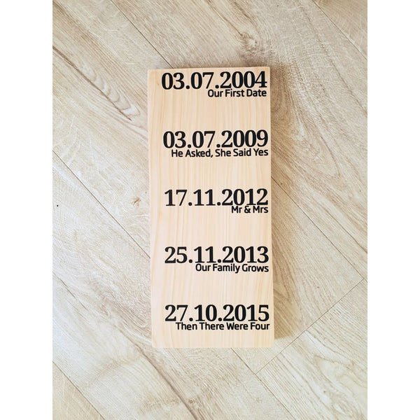 Special Dates - Natural / Long Last Vinyl - General Signs