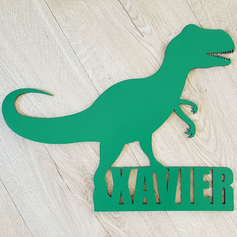 T-Rex Name Plaque - Laser Cut Name Plaque