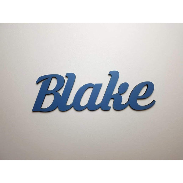 Wall Name Plaque Free Personalisation - Krinkes / 12cm - Laser Cut Name Plaque
