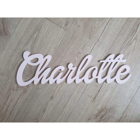 Wall Name Plaque Free Personalisation - Dollie / 12cm - Laser Cut Name Plaque