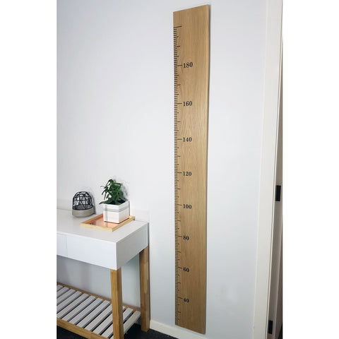 White Oak Wooden Height Chart - 130-150 / Vinyl / CM - Height Chart