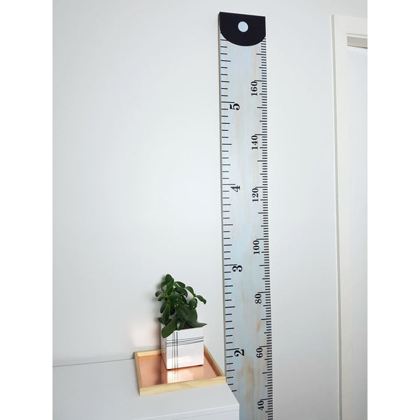 White Wash Wooden Height Chart - Height Chart